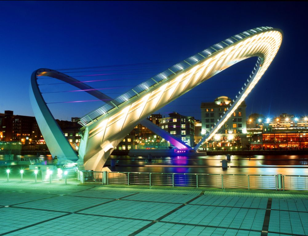 The Millennium Bridge, Newcastle-Upon-Tyne
